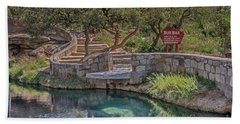 Beach Towel featuring the photograph Steps Leading To The Blue Hole by Sue Smith