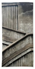 Beach Towel featuring the photograph Steps by Newel Hunter