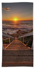 Steps To The Sun  Beach Sheet by Peter Tellone