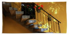 Beach Towel featuring the photograph Steps To Tranquility  by Kandy Hurley
