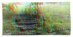Steps To Yesterday - Use Red-cyan 3d Glasses Beach Towel