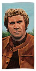 Steve Mcqueen Painting Beach Towel by Paul Meijering