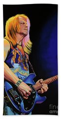 Steve Morse Painting Beach Towel by Paul Meijering