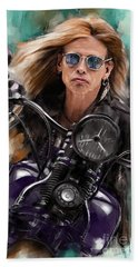 Steven Tyler On A Bike Beach Towel
