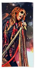 Steven Tyler  Beach Sheet by Scott Wallace