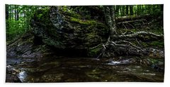 Beach Towel featuring the photograph Stevensville Brook In Underhill, Vermont - 1 by James Aiken