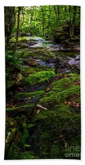 Beach Sheet featuring the photograph Stevensville Brook In Underhill, Vermont - 2 by James Aiken