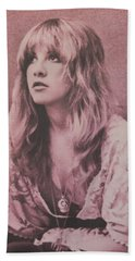 Stevie Nicks  Beach Sheet by Donna Wilson