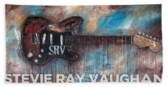 Stevie Ray Vaughan Double Trouble Beach Towel
