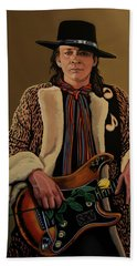 Stevie Ray Vaughan 2 Beach Towel by Paul Meijering
