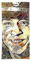 Stevie Ray Vaughan Beach Sheet by Paul Van Scott