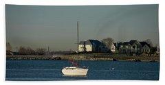 Still Boat Beach Towel