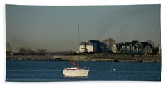 Beach Towel featuring the photograph Still Boat by Jose Rojas