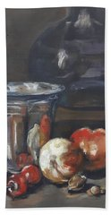 Still In Oil After Paul Chardin Beach Towel