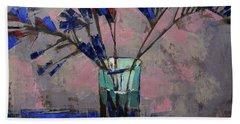 Still Life. Blue Crystal. Beach Towel