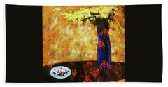 Beach Towel featuring the painting Still Life. Cherries For The Queen by Anastasija Kraineva