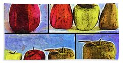 Still Life Collage Beach Towel