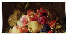Still Life Beach Towel by Cornelis de Heem