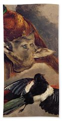 Still Life Of Game Beach Towel by Theodore Gericault