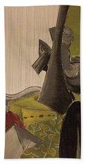 Still Life With A Black Horse- Cubism Beach Sheet