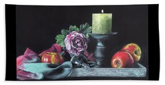 Still Life With Candle Beach Towel
