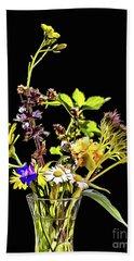 Still Life With Flowers Paint Beach Sheet