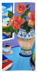 Still Life With Holy Bible Beach Towel