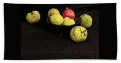 Still Life With Horse Apples Beach Towel by Joe Jake Pratt