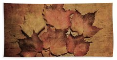Still Life With Leaves Beach Towel