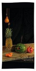 Still Life With Melon Beach Towel