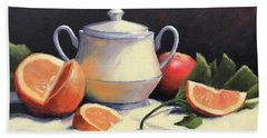 Still Life With Oranges Beach Sheet