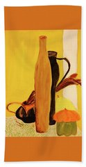 Still Life With Pumpkins  Beach Towel by Manuela Constantin