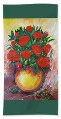 Still Life With Roses Beach Towel by Rita Fetisov