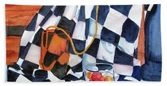 Still Life With Squares Beach Towel