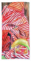 Still Life With Stripes Beach Towel