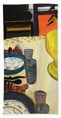 Still Life With Two Plates Beach Towel