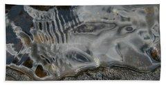Still Stream Skeleton Screams Beach Sheet by Carol Lynn Coronios
