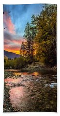 Stillaguamish Sunset Beach Towel