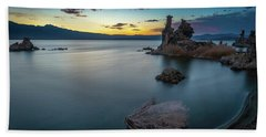 Stillness...mono Lake Beach Towel