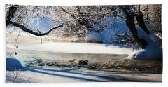 Stillwater Winter Beach Towel