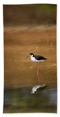 Stilt And Reflection Beach Towel