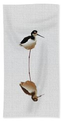 Stilt Rests On One Leg Beach Towel