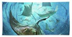 Sting Rays Beach Towel