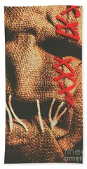 Stitched Up Madness Beach Towel