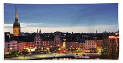 Stockholm By Night Beach Towel