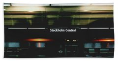 Stockholm Central- Photograph By Linda Woods Beach Towel