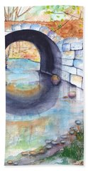 Stone Arch Bridge Dunstable Beach Sheet by Carlin Blahnik