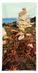 Beach Towel featuring the photograph Stone Balance by Lucia Sirna