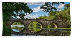 Stone Bridge Over The River 590  Beach Towel
