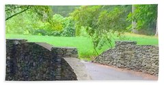 Stone Carriage Road Beach Towel